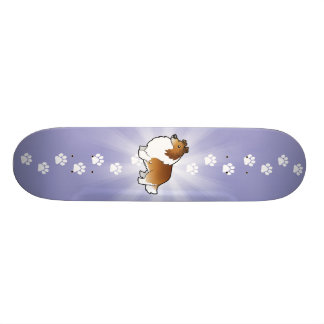 Cartoon Shetland Sheepdog / Collie 19.7 Cm Skateboard Deck