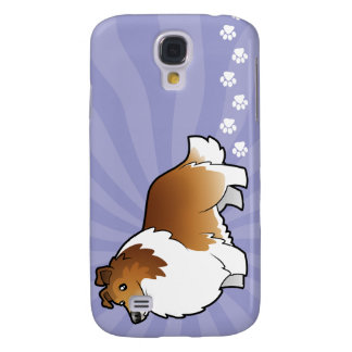 Cartoon Shetland Sheepdog / Collie Galaxy S4 Case