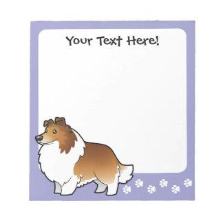 Cartoon Shetland Sheepdog / Collie Notepad