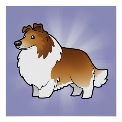 cartoon shetland sheepdog