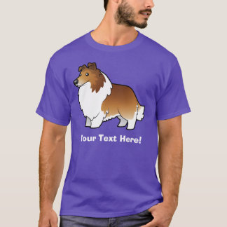 Cartoon Shetland Sheepdog / Collie T-Shirt