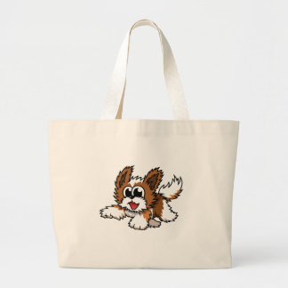 Cartoon Shih Tzu Large Tote Bag