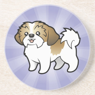 Cartoon Shih Tzu (puppy cut) Coaster
