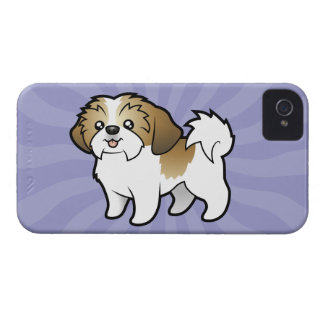Cartoon Shih Tzu (puppy cut) iPhone 4 Case