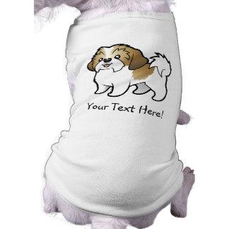 Cartoon Shih Tzu (puppy cut) Sleeveless Dog Shirt