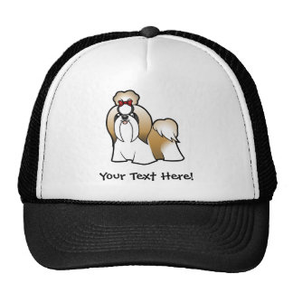 Cartoon Shih Tzu (show cut) Cap