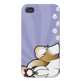 Cartoon Shih Tzu (show cut) iPhone 4/4S Case