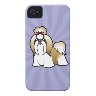 Cartoon Shih Tzu (show cut) iPhone 4 Cover