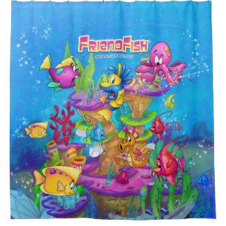 Cartoon shower curtain Fish FriendFish