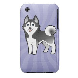 Cartoon Siberian Husky / Alaskan Malamute Case-Mate iPhone 3 Case