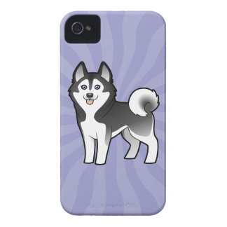 Cartoon Siberian Husky / Alaskan Malamute iPhone 4 Cases