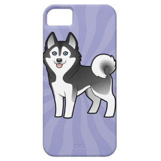 Cartoon Siberian Husky / Alaskan Malamute iPhone 5 Case