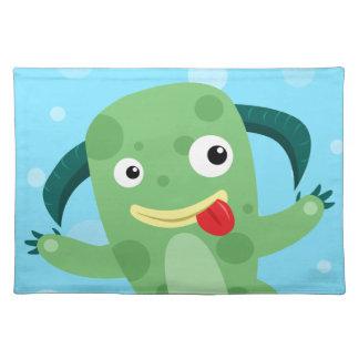 Cartoon Silly Green Monster Placemat