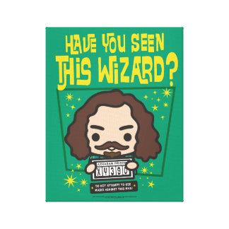 Cartoon Sirius Black Wanted Poster Graphic Canvas Print