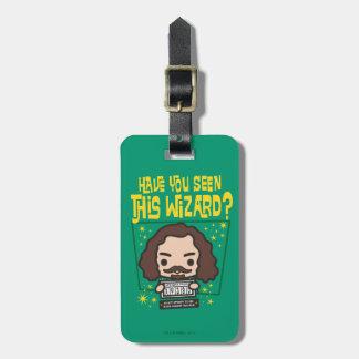 Cartoon Sirius Black Wanted Poster Graphic Luggage Tag