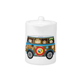 Cartoon Sixties Peace Hippie Van