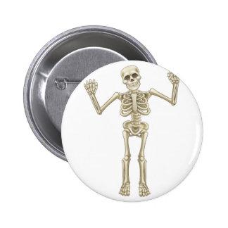 Cartoon Skeleton Character 6 Cm Round Badge