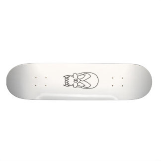 cartoon skull 21.6 cm skateboard deck