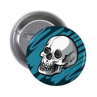 cartoon skull button