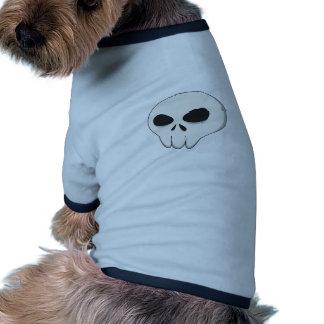 cartoon skull ringer dog shirt