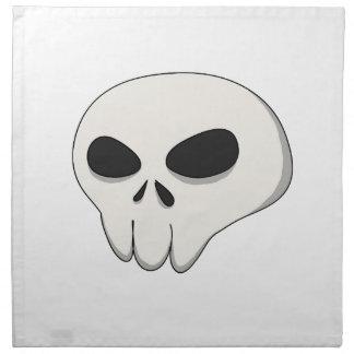 cartoon skull napkin