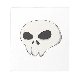 cartoon skull notepad
