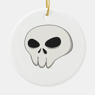 cartoon skull round ceramic decoration