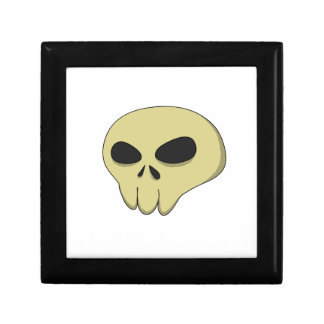 Cartoon skull sepia gift box
