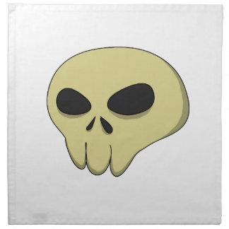 Cartoon skull sepia napkin