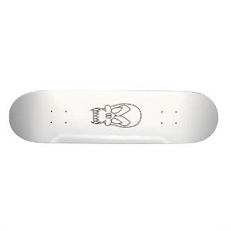 cartoon skull skateboard deck