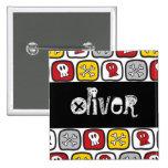 Cartoon Skulls & Bones Halloween Party Name Tag 15 Cm Square Badge