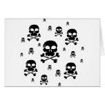 Cartoon Skulls Collage - Black & White