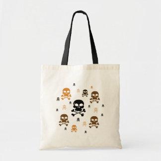 Cartoon Skulls Collage - Orange Bag