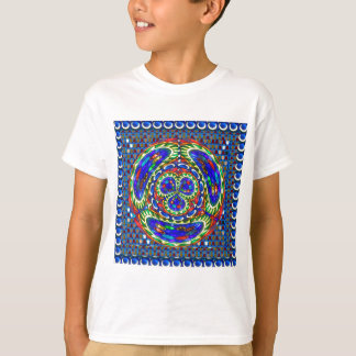 Cartoon smiley face Cosmic Spiritual Soul Art gift T-Shirt