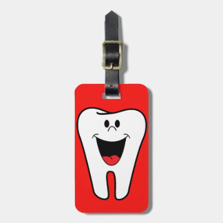 Cartoon Smiling Tooth Luggage Tag