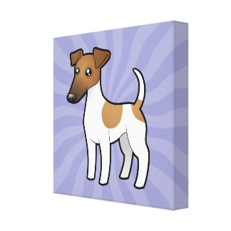 Cartoon Smooth Fox Terrier Canvas Print
