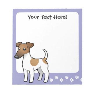 Cartoon Smooth Fox Terrier Notepad