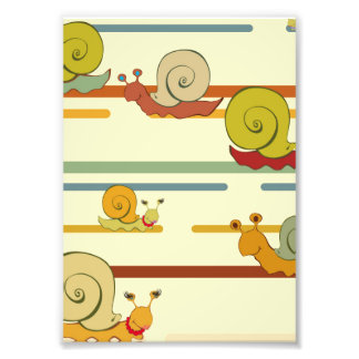 Cartoon Snail Race Art Photo