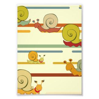 Cartoon Snail Race Photo Print