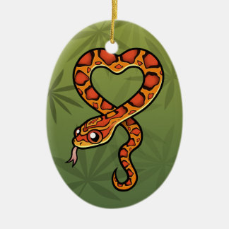 Cartoon Snake (add your own message) Christmas Ornament