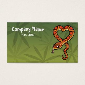 Cartoon Snake Business Card