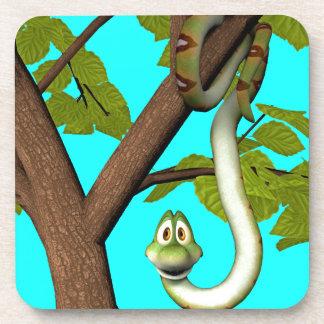 Cartoon Snake in Tree Coaster