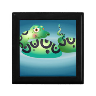 cartoon snake small square gift box