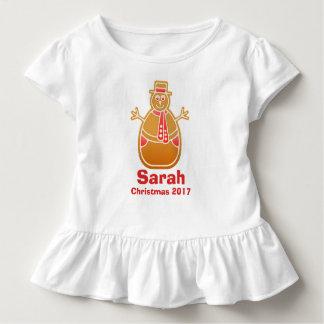 Cartoon Snowman Gingerbread Cookie Customize Toddler T-Shirt