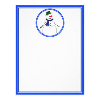 Cartoon Snowman Little Flirty Boy Custom Flyer