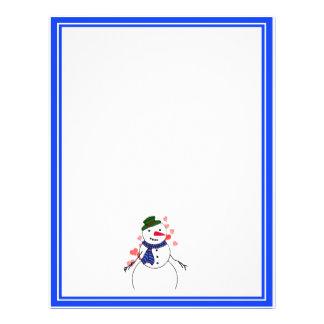 Cartoon Snowman Little Flirty Boy Personalized Flyer