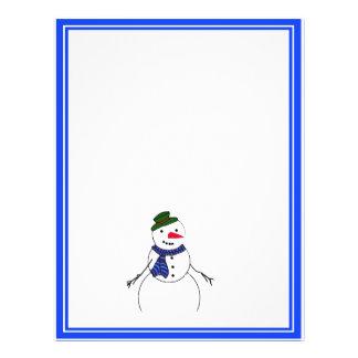 Cartoon Snowman Little Flirty Boy Flyer Design