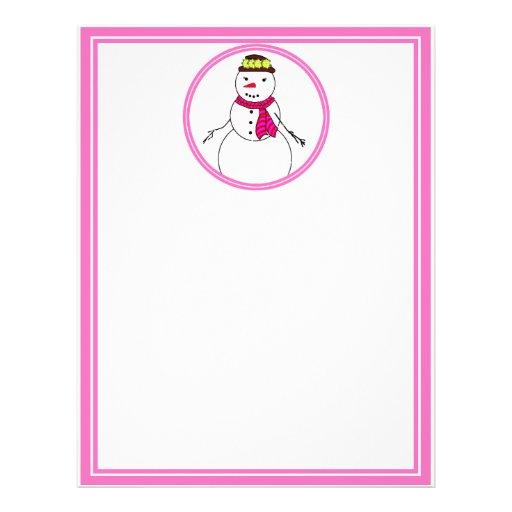 Cartoon Snowman Little Flirty Sweetheart Flyer Design