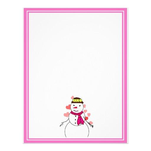Cartoon Snowman Little Flirty Sweetheart Personalized Flyer