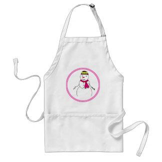Cartoon Snowman Little Flirty Sweetheart Standard Apron
